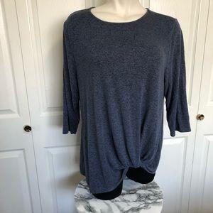 Matty M boutique brand blue twist fleece top sz.XL